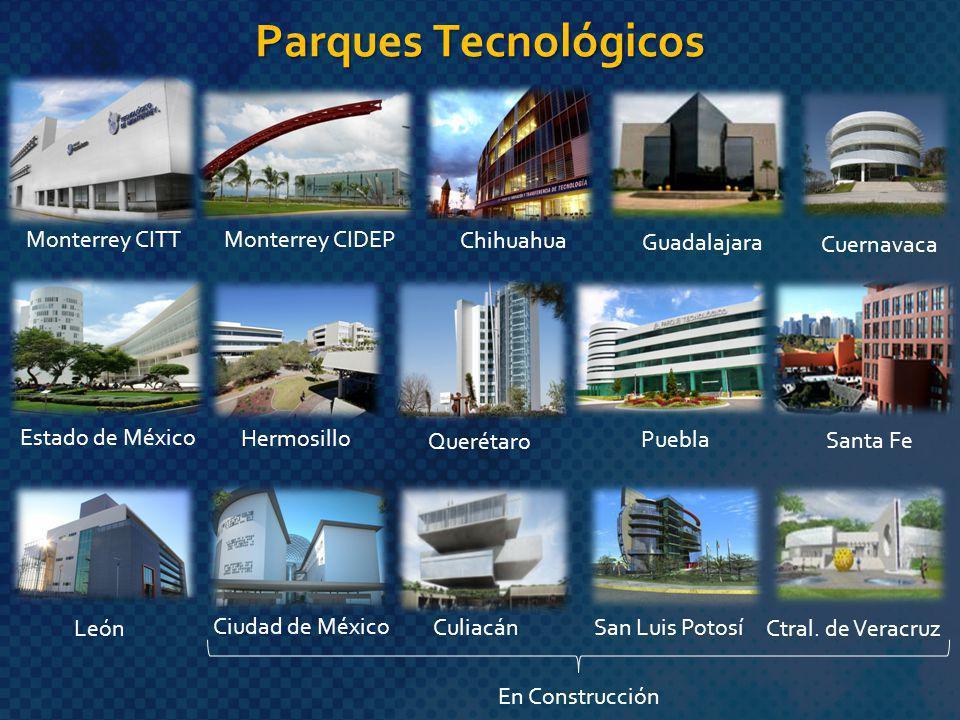 Parques Tecnológicos Monterrey CITT Monterrey CIDEP Chihuahua