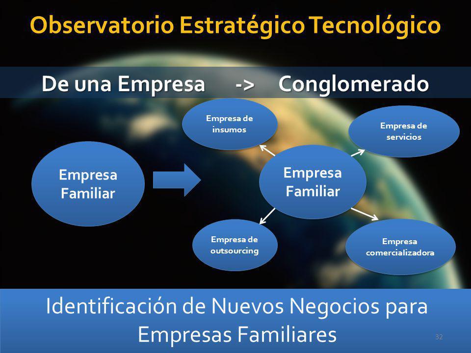 Observatorio Estratégico Tecnológico De una Empresa -> Conglomerado