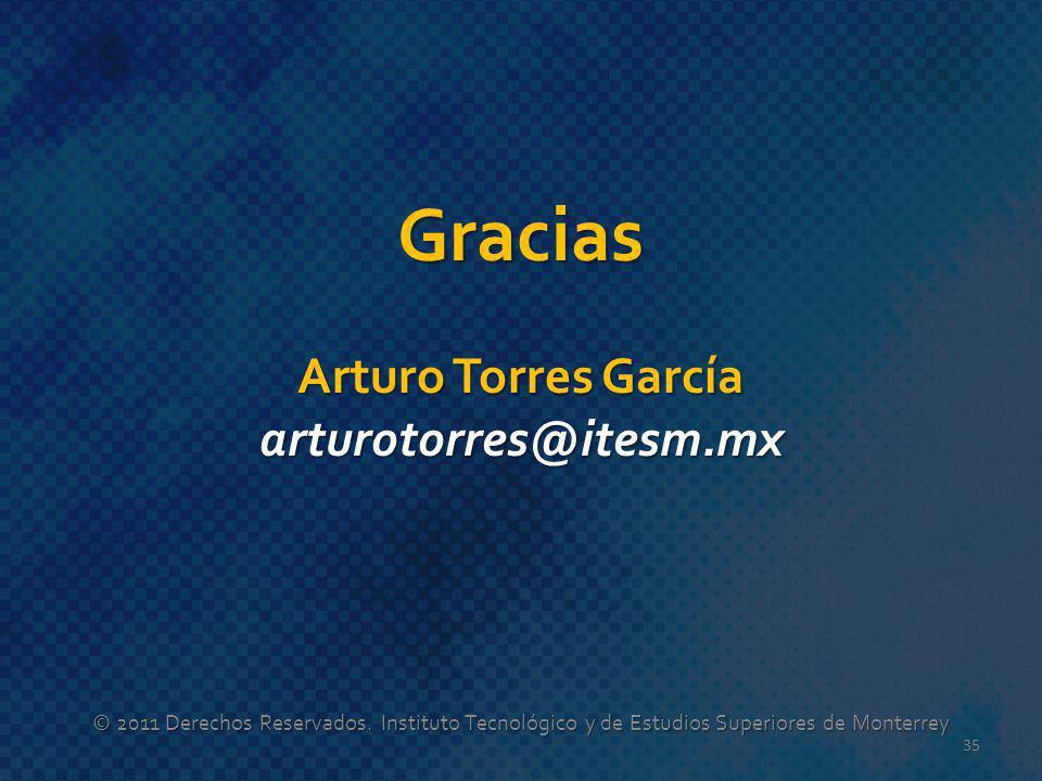 Gracias Arturo Torres García arturotorres@itesm.mx