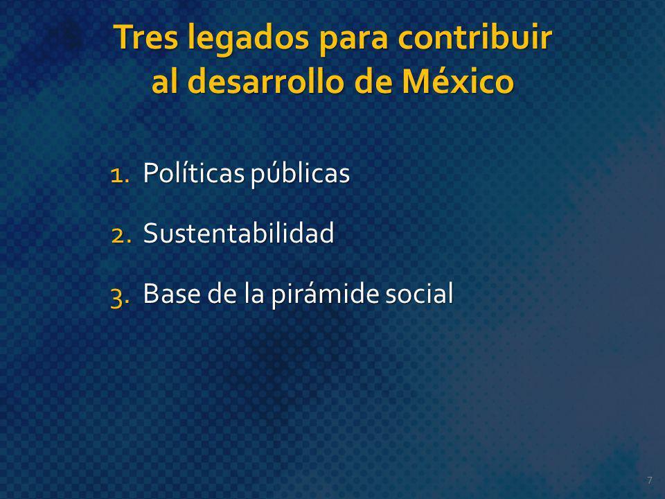 Tres legados para contribuir al desarrollo de México