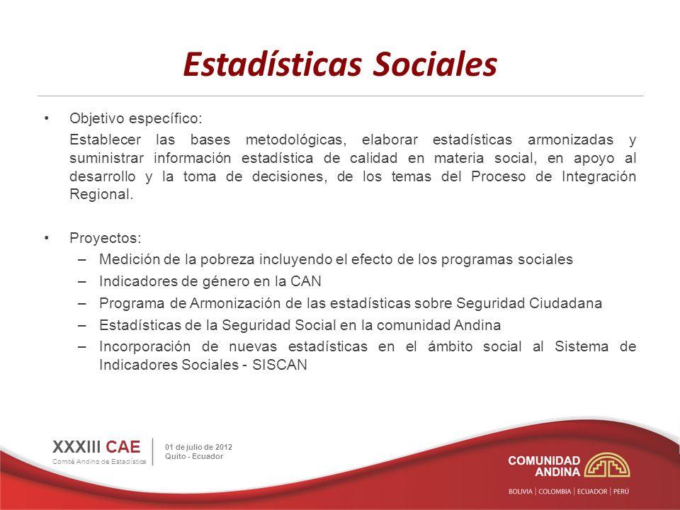 Estadísticas Sociales