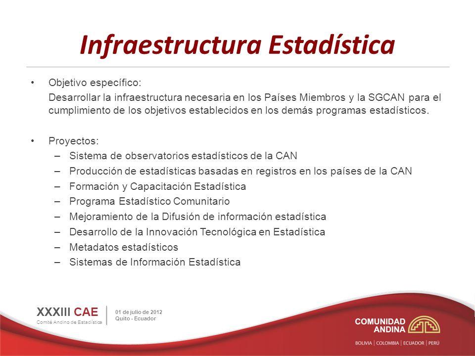 Infraestructura Estadística