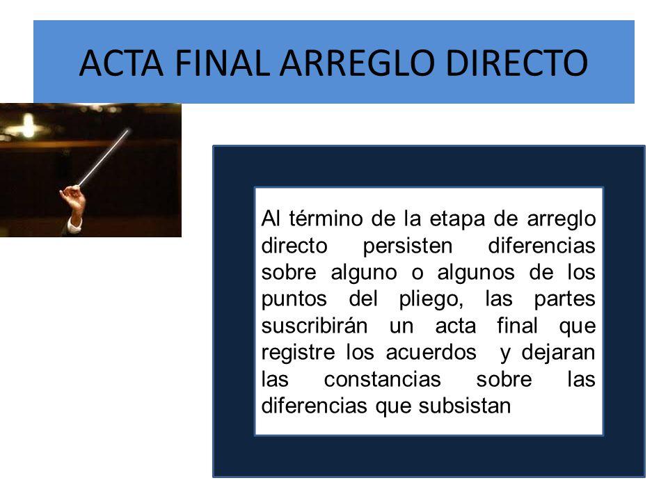 ACTA FINAL ARREGLO DIRECTO