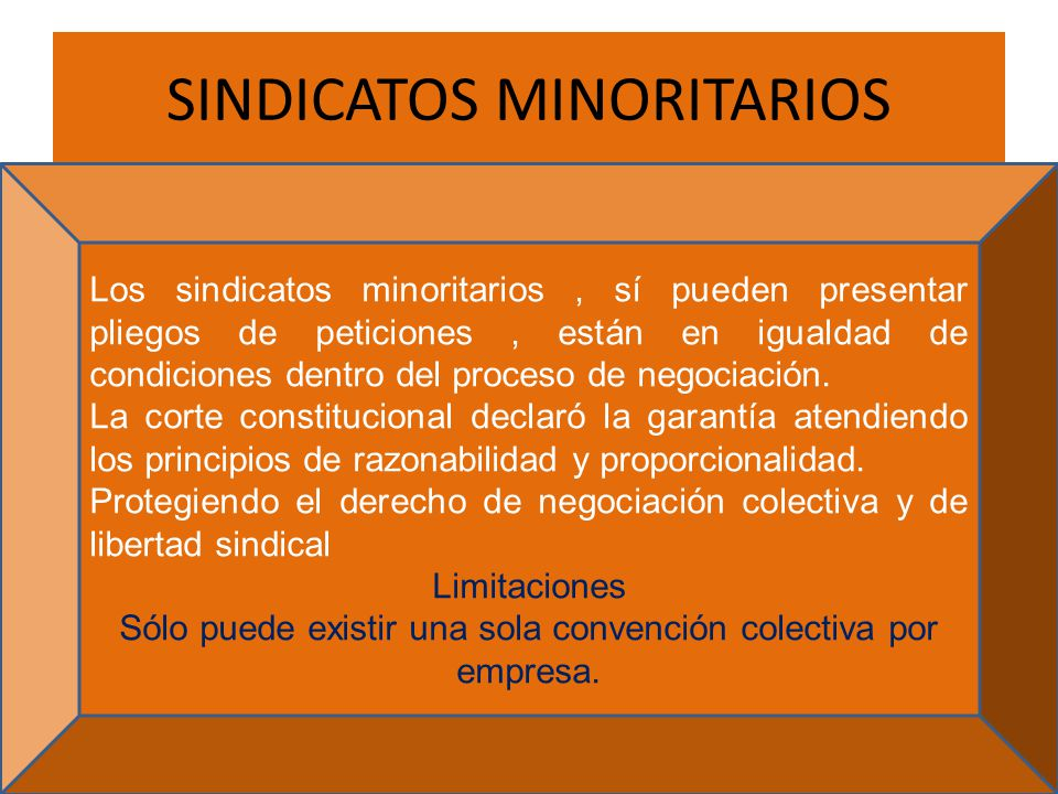SINDICATOS MINORITARIOS