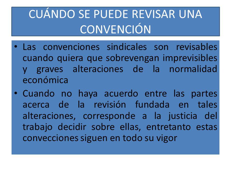 CUÁNDO SE PUEDE REVISAR UNA CONVENCIÓN