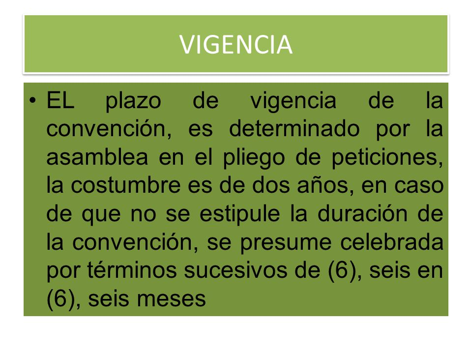 VIGENCIA