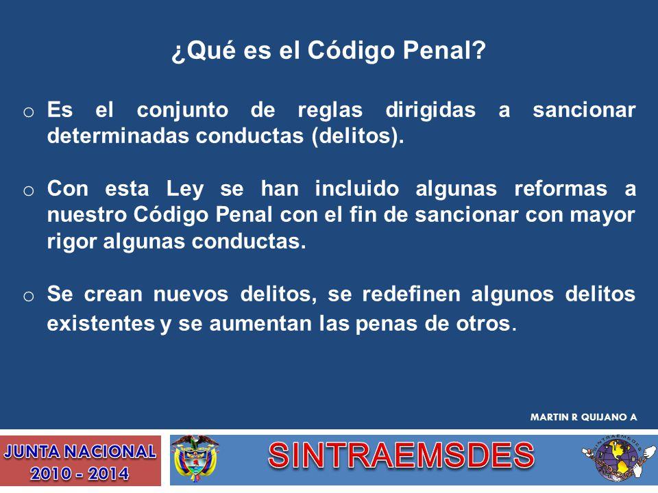 SINTRAEMSDES ¿Qué es el Código Penal