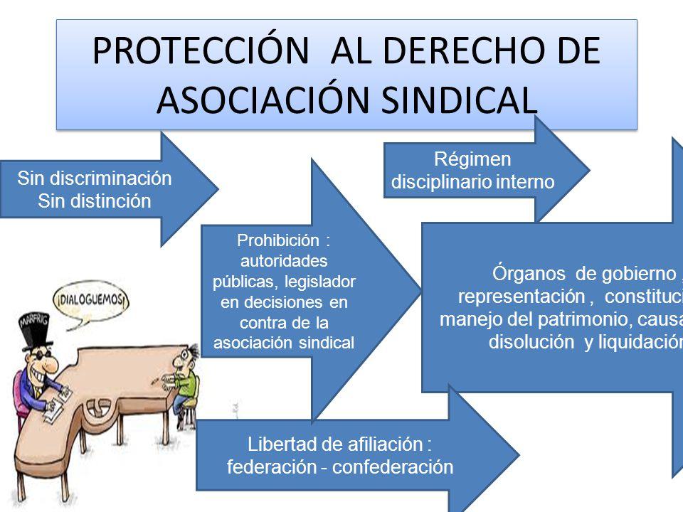 PROTECCIÓN AL DERECHO DE ASOCIACIÓN SINDICAL