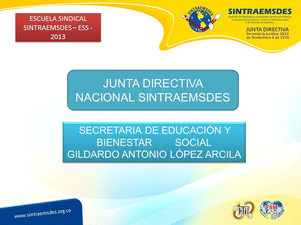 JUNTA DIRECTIVA NACIONAL SINTRAEMSDES