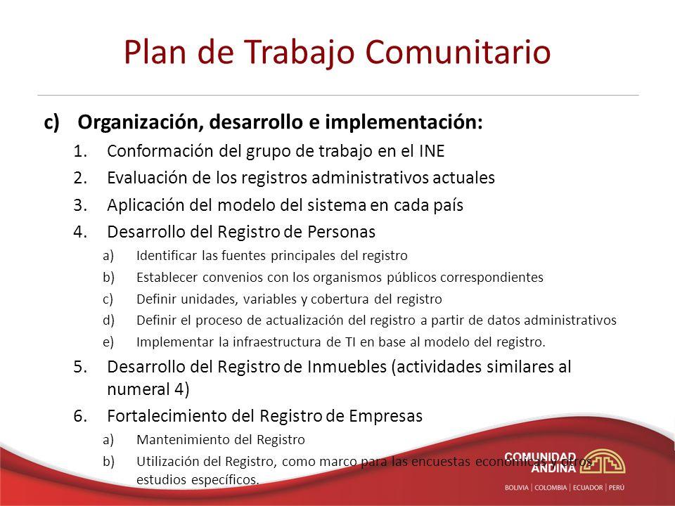 Plan de Trabajo Comunitario