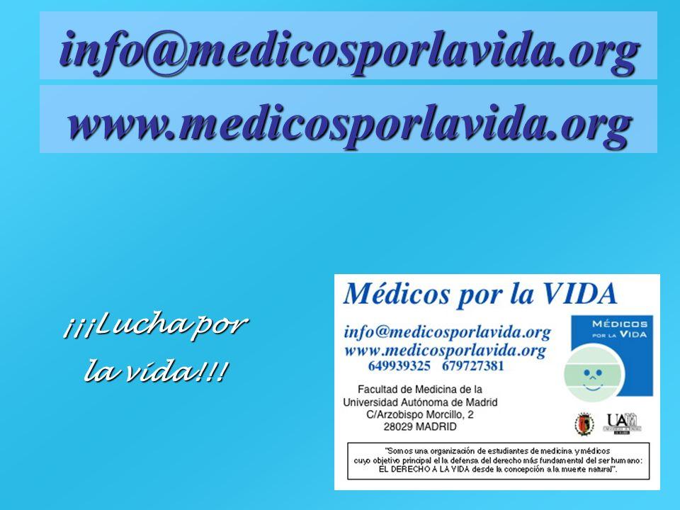 info@medicosporlavida.org www.medicosporlavida.org