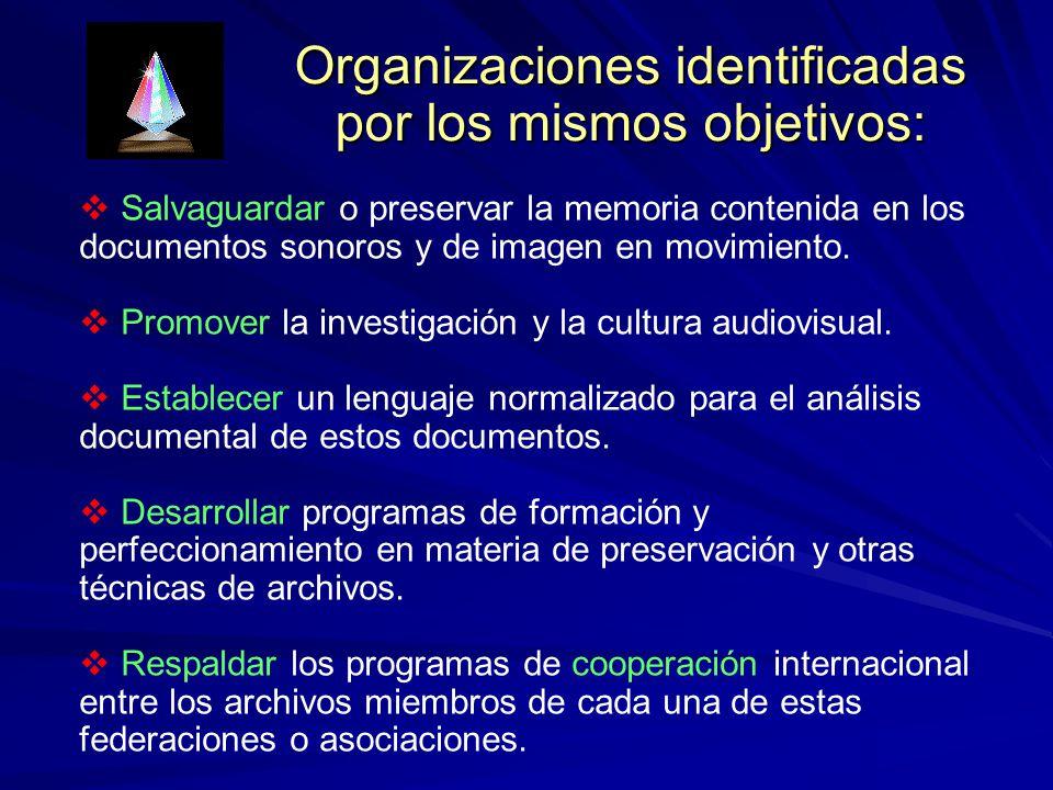 Organizaciones identificadas por los mismos objetivos: