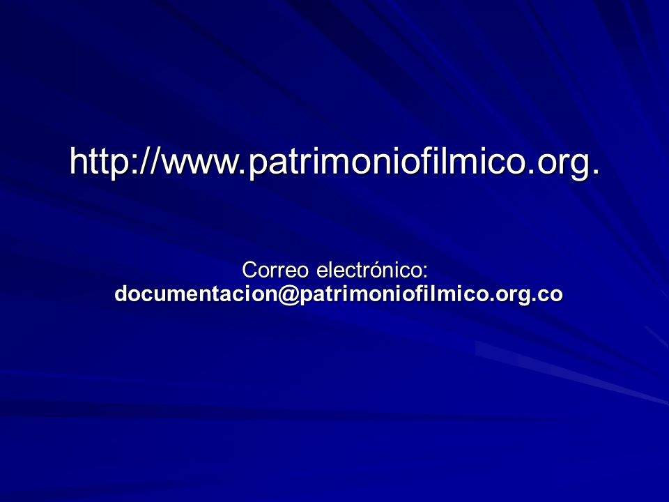 http://www. patrimoniofilmico. org