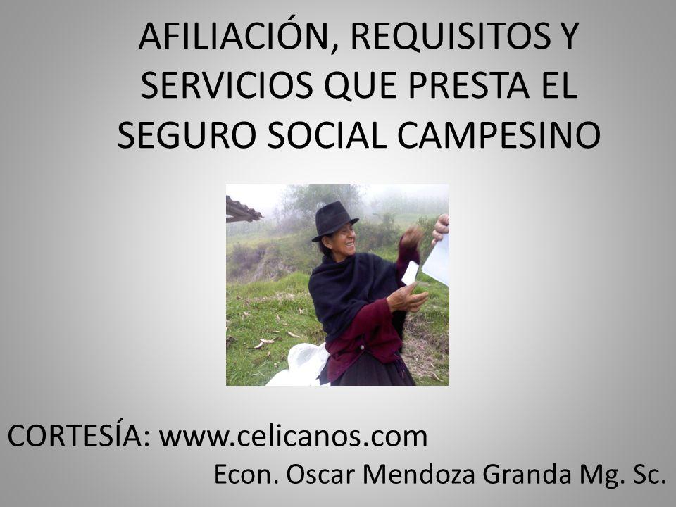 Econ. Oscar Mendoza Granda Mg. Sc.