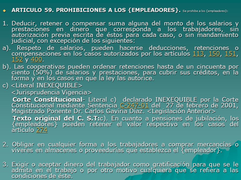 c) <Literal INEXEQUIBLE> <Jurisprudencia Vigencia>