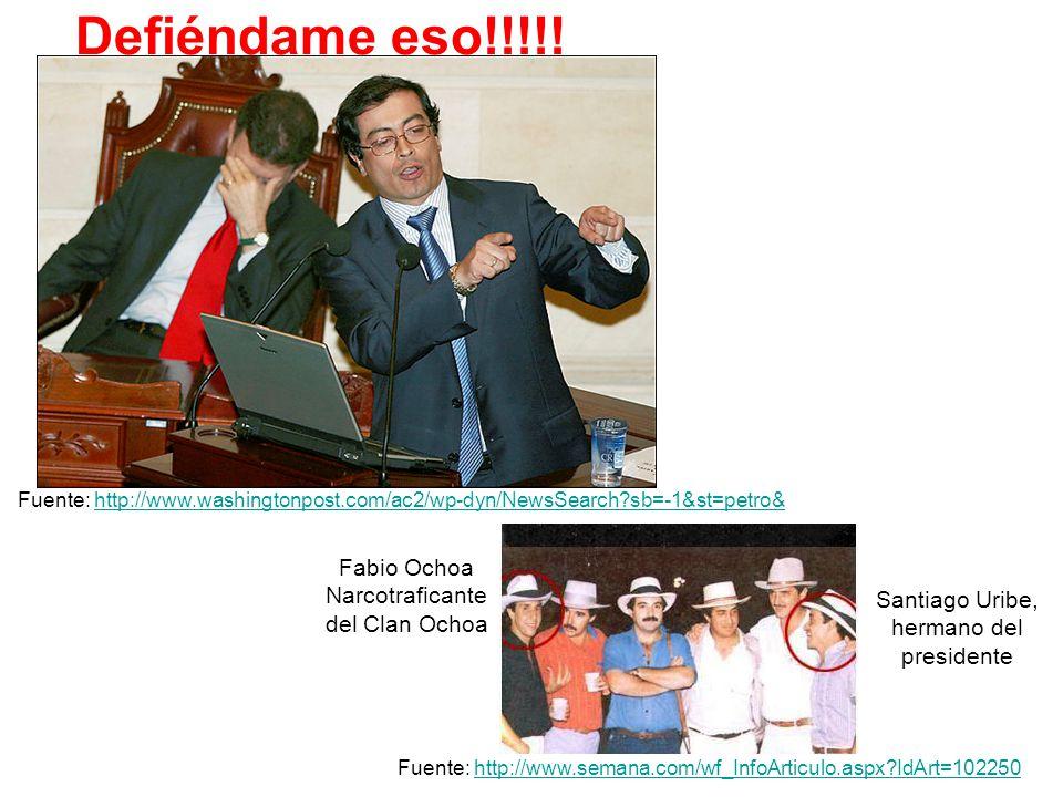 Defiéndame eso!!!!! Fabio Ochoa Narcotraficante del Clan Ochoa