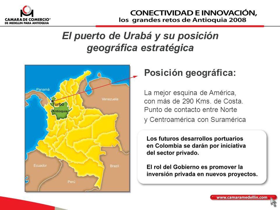 El puerto de Urabá y su posición geográfica estratégica