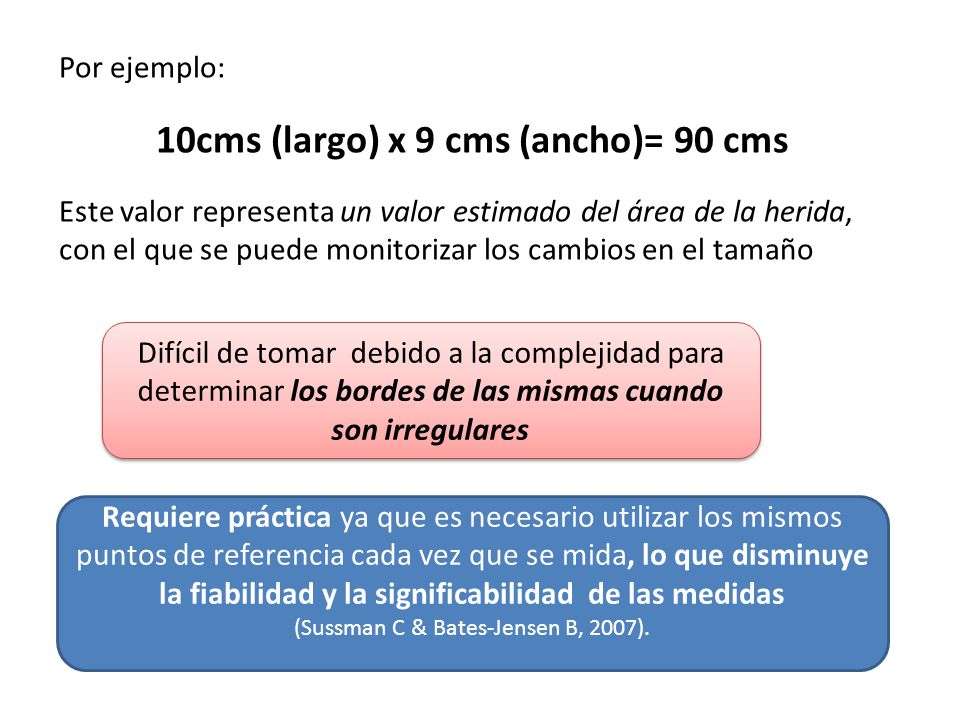10cms (largo) x 9 cms (ancho)= 90 cms