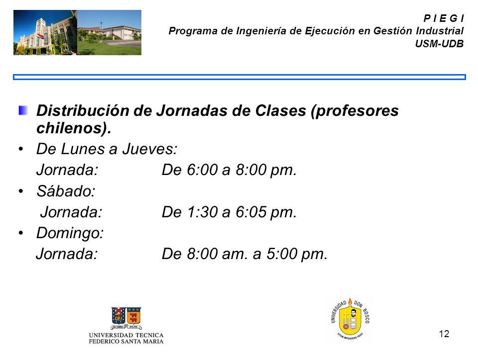 Distribución de Jornadas de Clases (profesores chilenos).