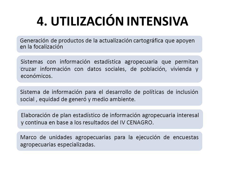 4. UTILIZACIÓN INTENSIVA