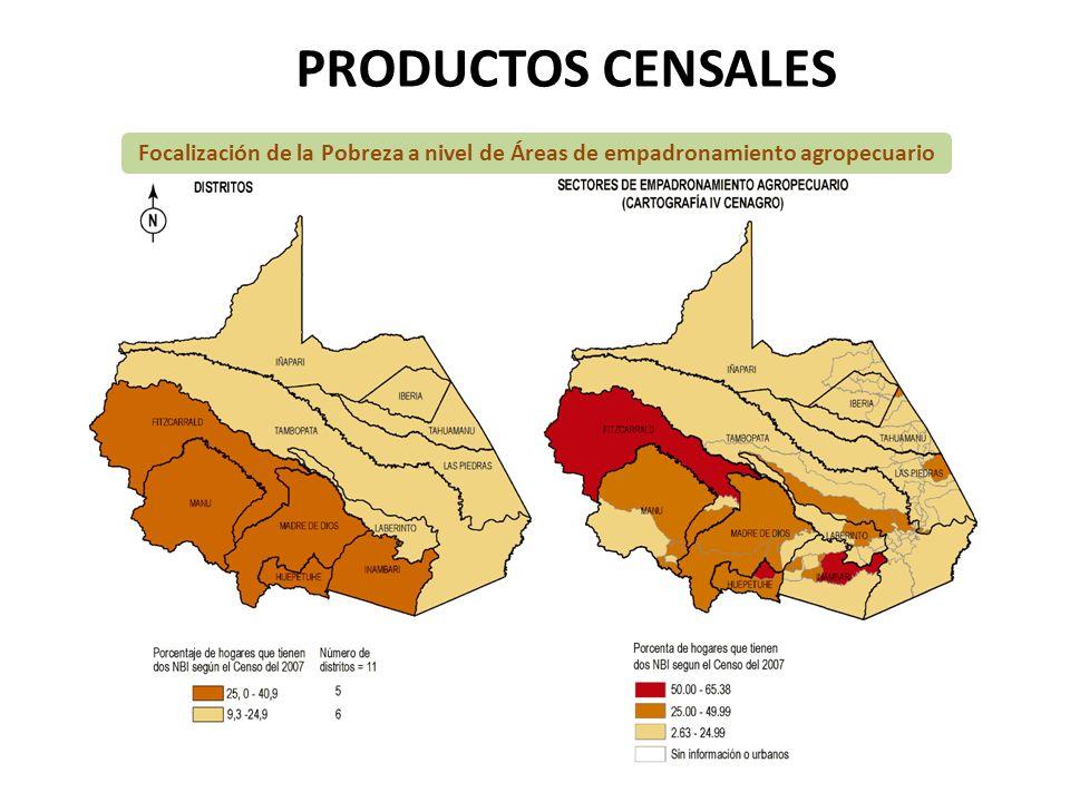 PRODUCTOS CENSALES Focalización de la Pobreza a nivel de Áreas de empadronamiento agropecuario