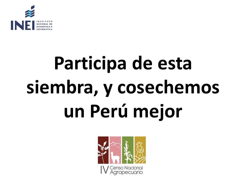 Participa de esta siembra, y cosechemos un Perú mejor