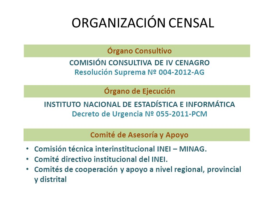 ORGANIZACIÓN CENSAL Órgano Consultivo