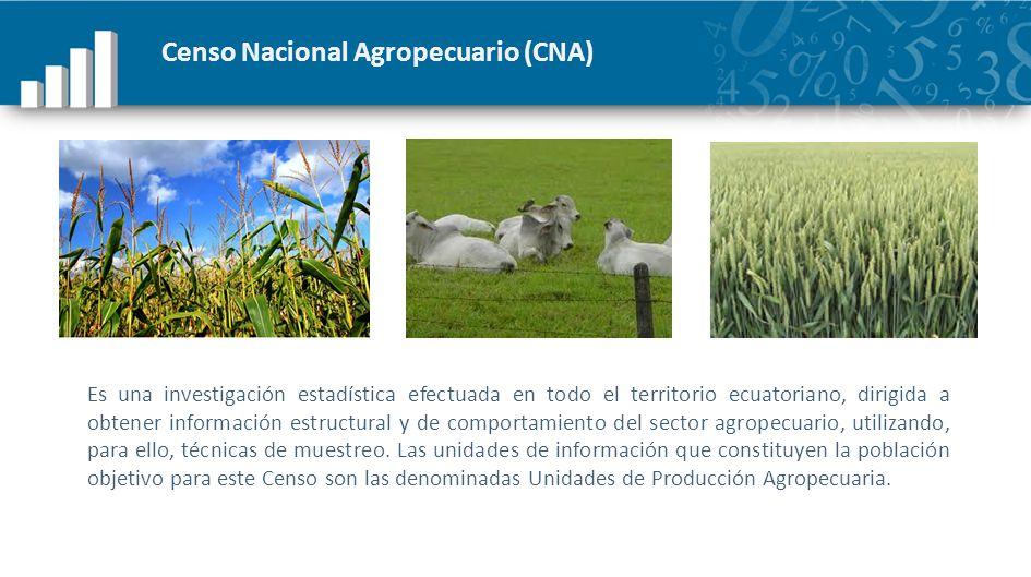 Censo Nacional Agropecuario (CNA)