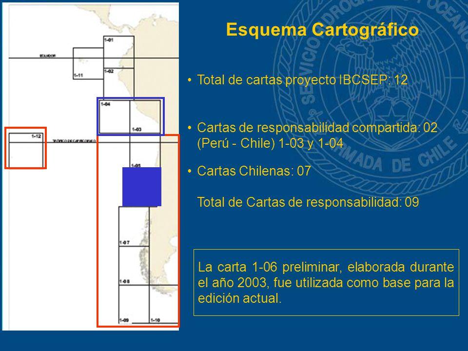 Esquema Cartográfico Total de cartas proyecto IBCSEP: 12