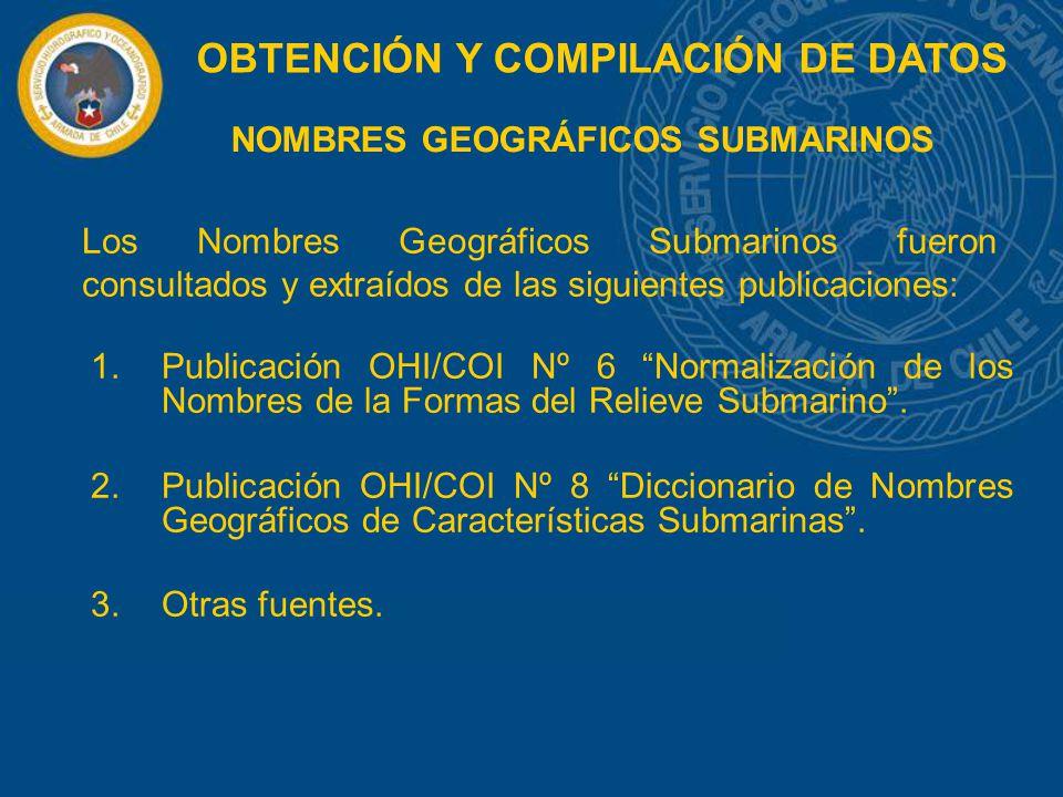 NOMBRES GEOGRÁFICOS SUBMARINOS