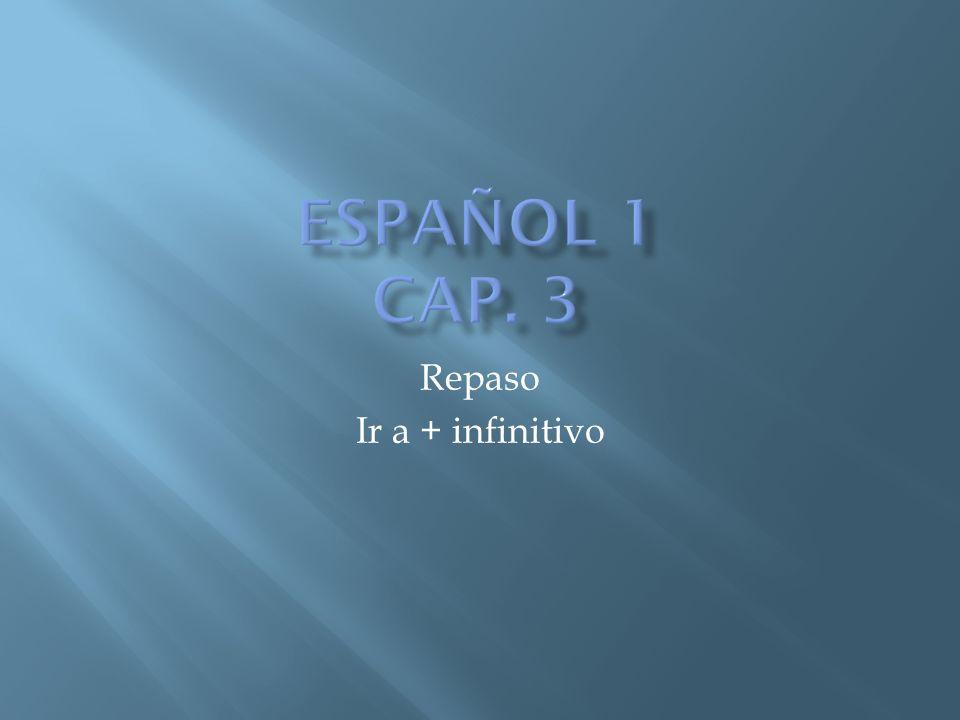 Repaso Ir a + infinitivo