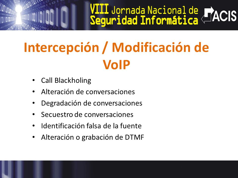 Intercepción / Modificación de VoIP