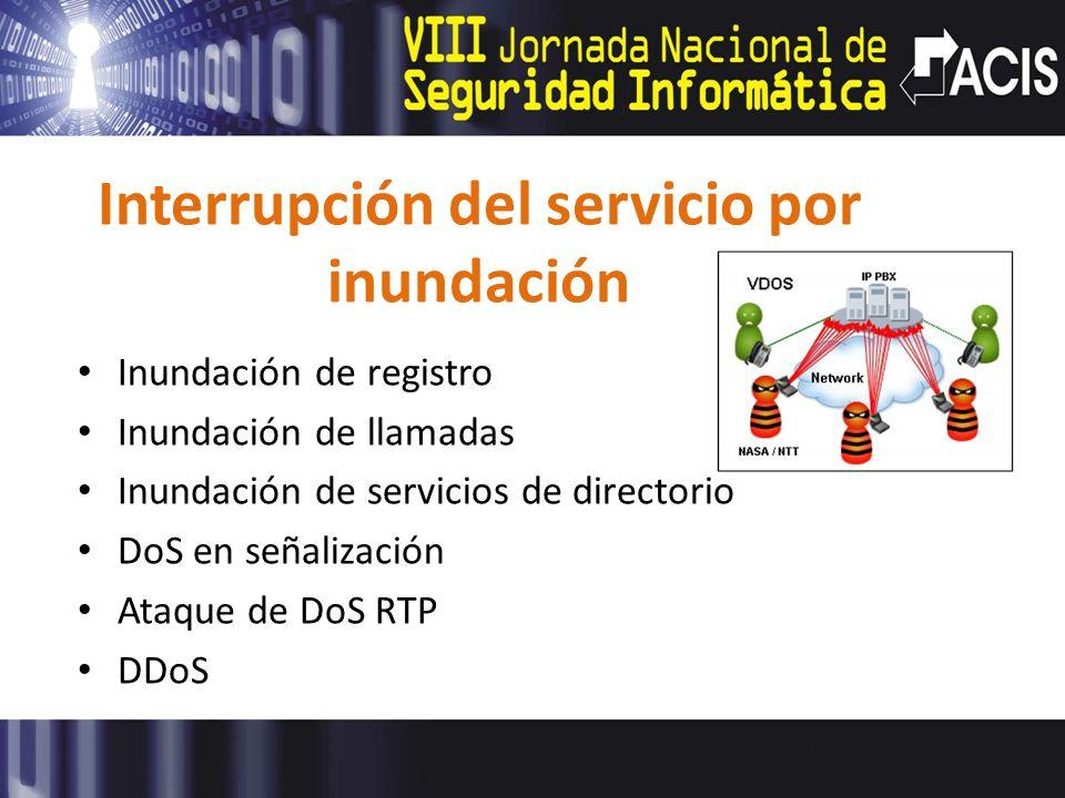 Interrupción del servicio por inundación