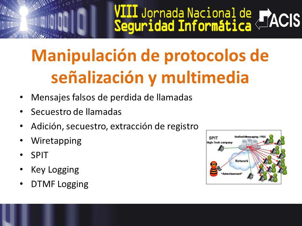 Manipulación de protocolos de señalización y multimedia