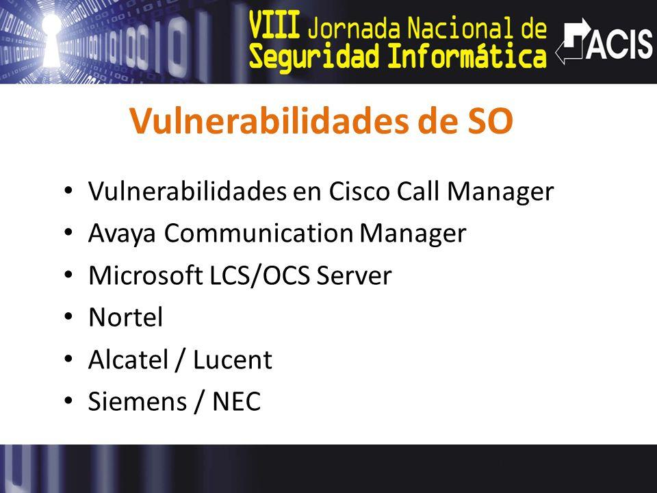 Vulnerabilidades de SO