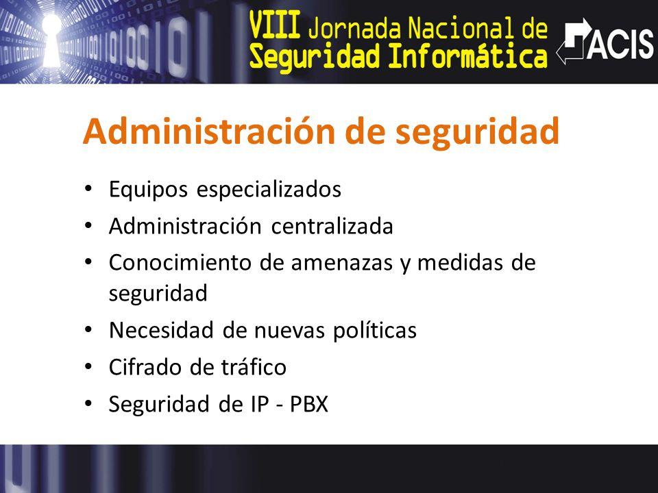 Administración de seguridad