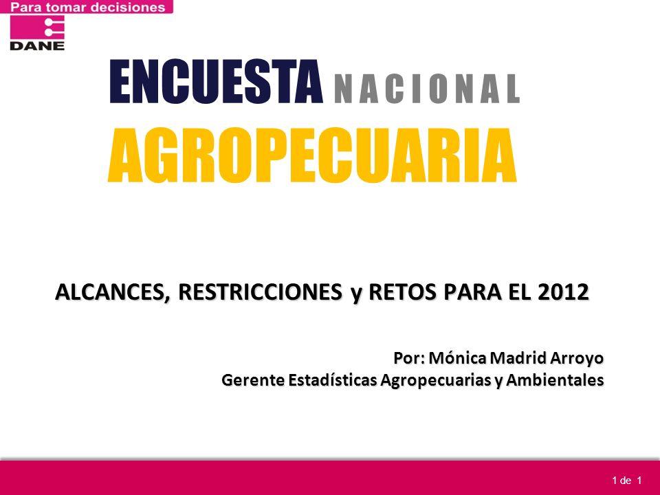 ALCANCES, RESTRICCIONES y RETOS PARA EL 2012