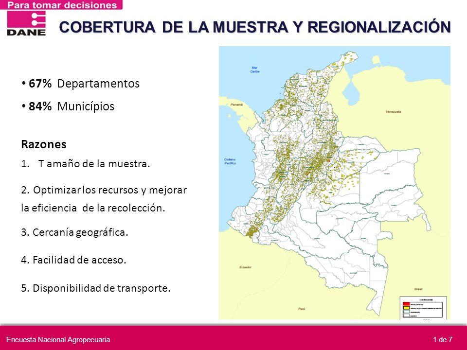 COBERTURA DE LA MUESTRA Y REGIONALIZACIÓN
