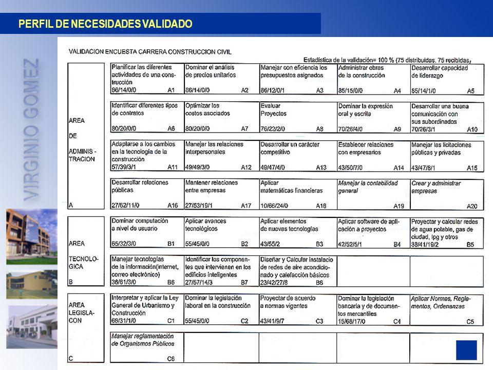 PERFIL DE NECESIDADES VALIDADO