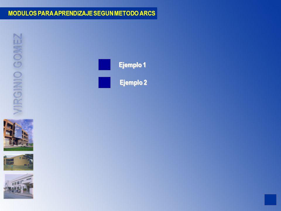 MODULOS PARA APRENDIZAJE SEGUN METODO ARCS