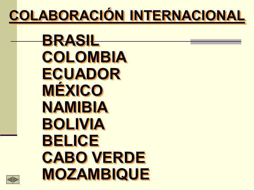 BRASIL COLOMBIA ECUADOR MÉXICO NAMIBIA BOLIVIA BELICE CABO VERDE