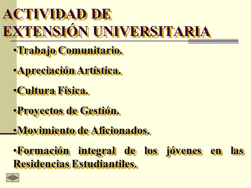 ACTIVIDAD DE EXTENSIÓN UNIVERSITARIA