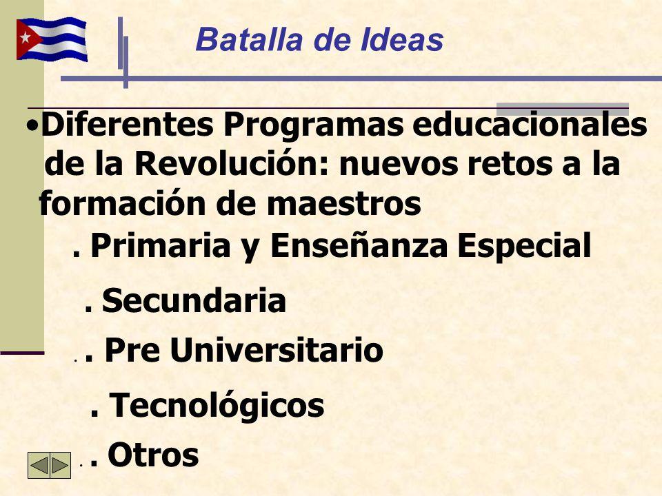 Diferentes Programas educacionales