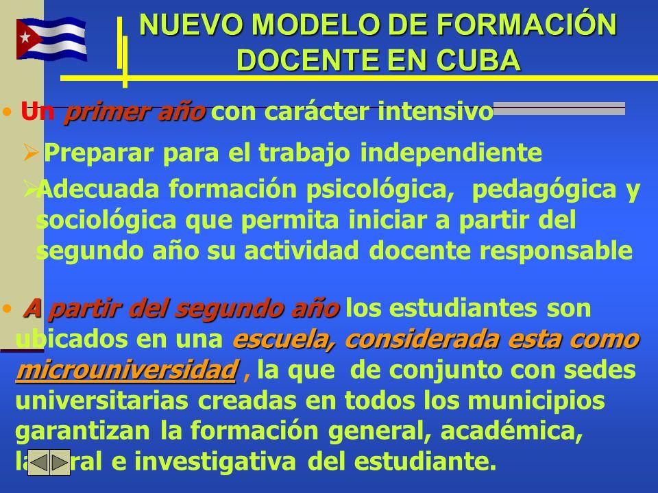 NUEVO MODELO DE FORMACIÓN DOCENTE EN CUBA
