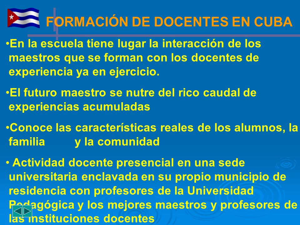 FORMACIÓN DE DOCENTES EN CUBA