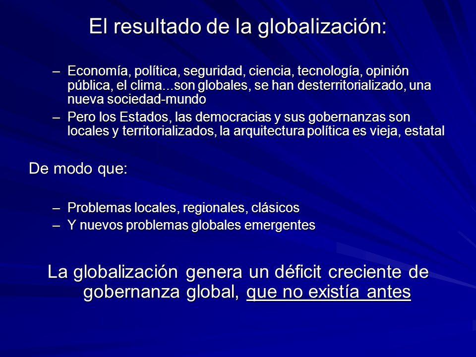 El resultado de la globalización: