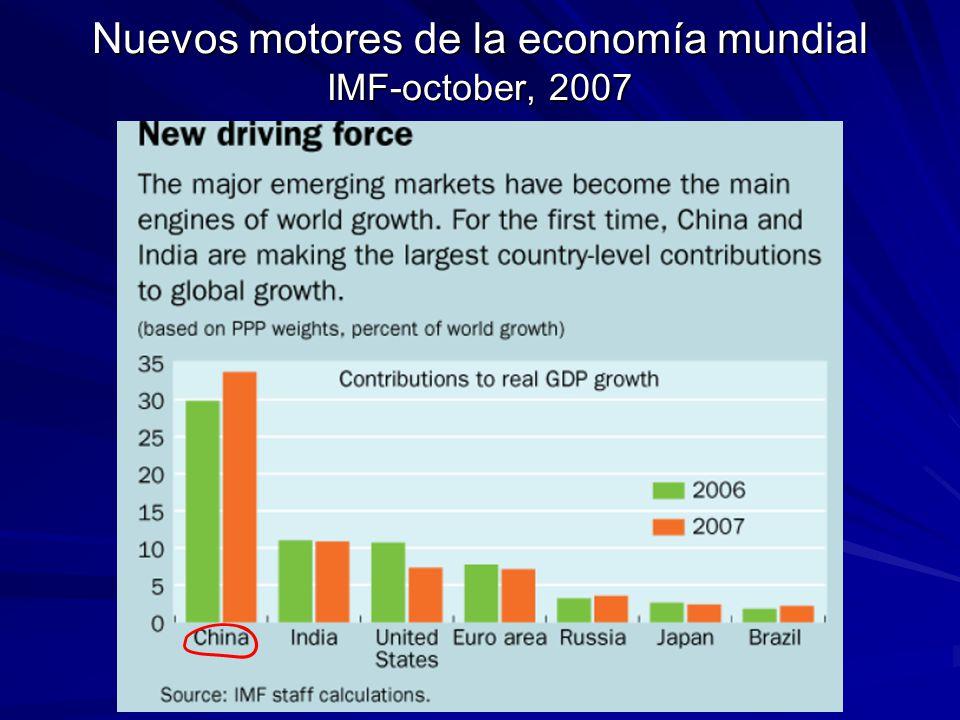 Nuevos motores de la economía mundial IMF-october, 2007