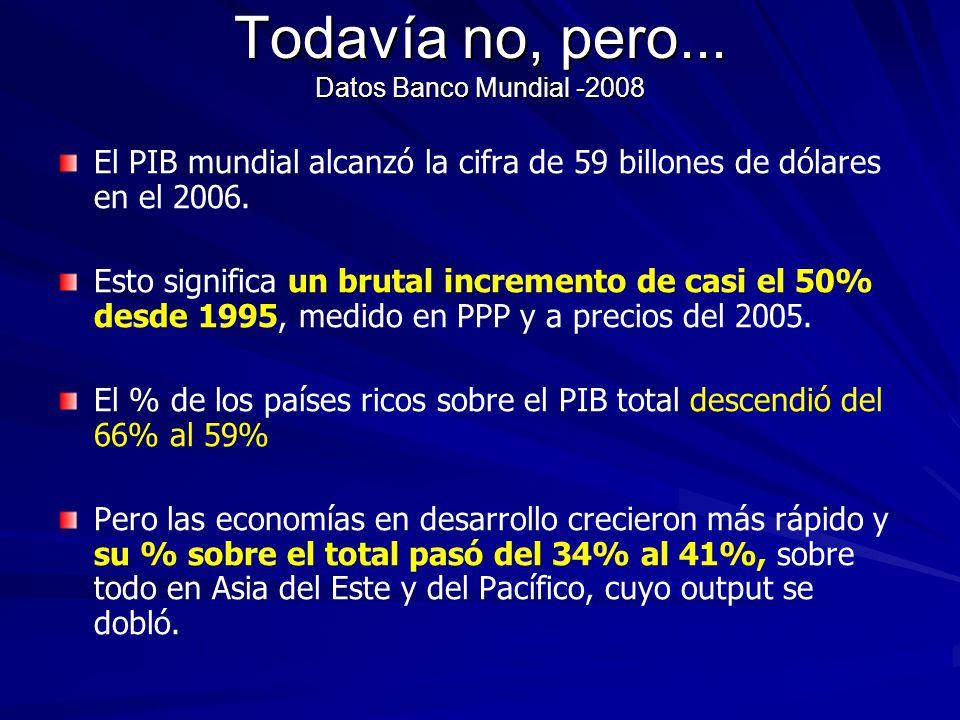 Todavía no, pero... Datos Banco Mundial -2008