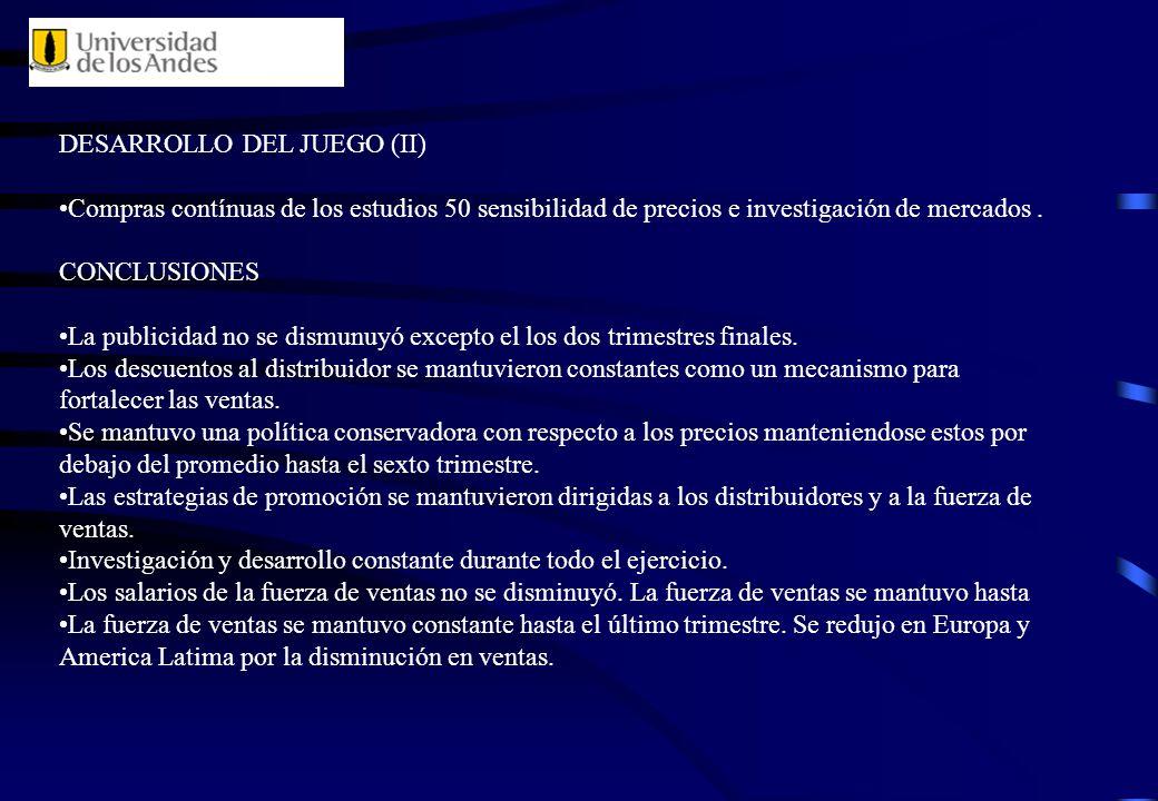 DESARROLLO DEL JUEGO (II)