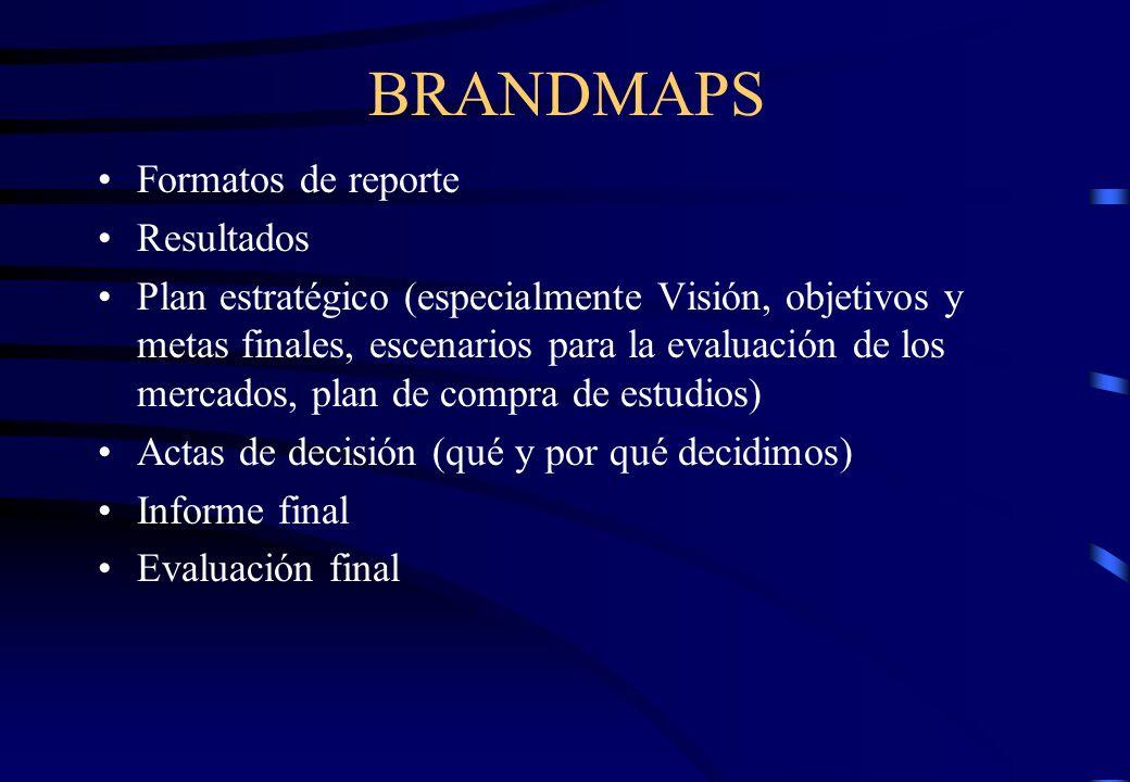 BRANDMAPS Formatos de reporte Resultados